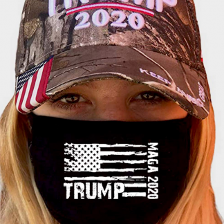trump face mask and hat combo